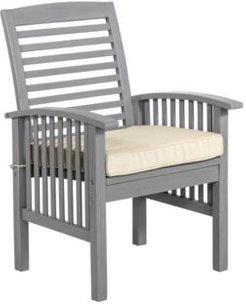 Acacia Patio Chairs with Cushions (Set of 2)