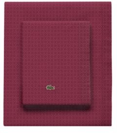 Lacoste Rings Pomegranate Std King Sheet Set Bedding