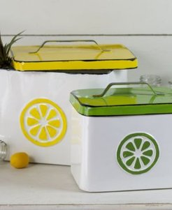 2-Piece and Metal Lemonade Canisters