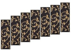 """Ottohome Patterned Non-Slip Pet-Friendly Stair Treads Set of 7, 8.5"""" x 26.6"""" Bedding"""