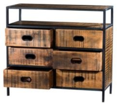 Villa 2 Milano 6 Drawers Solid Wood Iron Chest