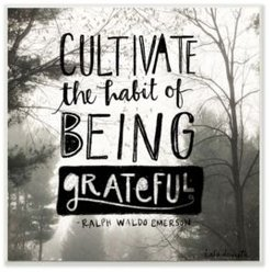 """Cultivate Being Greatful Foggy Landscape Wall Plaque Art, 12"""" x 12"""""""