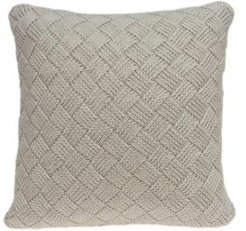 Aldo Transitional Beige Pillow Cover with Polyester Insert