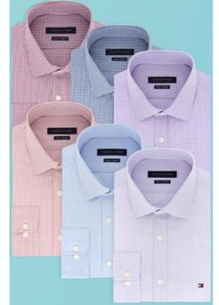Slim-Fit Stretch Check Dress Shirt, Online Exclusive Created for Macy's