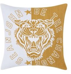 """Be the Change 18"""" Square Decorative Pillow Bedding"""