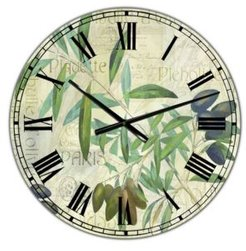 """Olives Picholines Oversized Cottage Wall Clock - 36"""" x 28"""" x 1"""""""