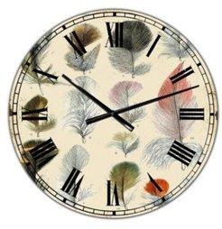 """Old Style Feathers Catalogue Oversized Cottage Wall Clock - 36"""" x 28"""" x 1"""""""