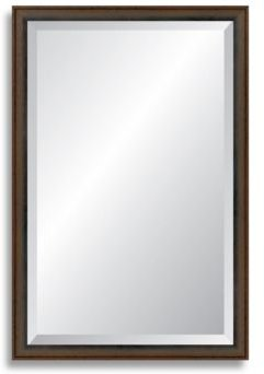 Reveal Robust Foundry Bronze Beveled Wall Mirror