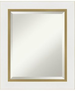 "Eva Gold-tone Framed Bathroom Vanity Wall Mirror, 21.25"" x 25.25"""