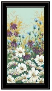 "Floral Field Day by Michele Norman, Ready to hang Framed Print, Black Frame, 15"" x 27"""