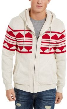 Geometric Zip-Front Hoodie, Created for Macy's