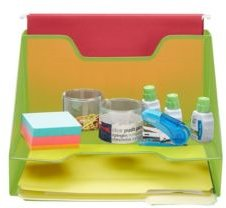 3 Section Desk File Organizer, Document Letter Tray For Folders, Mail, Documents