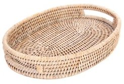 Artifacts Rattan Oval Vanity Tray