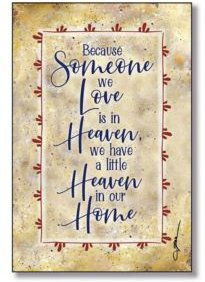 """Heaven in Our Home Wood Plaque with Easel and Hanger, 6"""" x 9"""""""