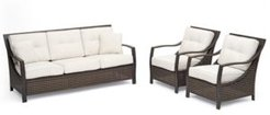 North Shore Outdoor 3-Pc. Seating Set (Sofa & 2 Club Chairs) with Sunbrella Cushions, Created for Macy's