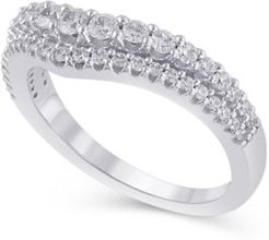 Certified Diamond (5/8 ct. t.w.) Contour Band in 14K White Gold
