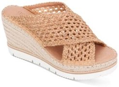 by Kenneth Cole Women's Elyssa X-Band Espadrille Wedges Women's Shoes