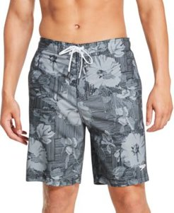 "Bondi Ombre Gradient Floral 2-Way Stretch Upf 50+ 9"" Board Shorts"