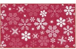 """Snowflakes Accent Rug, 18"""" x 30"""" Bedding"""