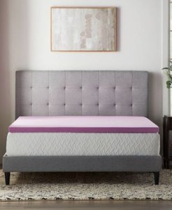 "Dream Collection by Lucid 2"" Lavender Memory Foam Mattress Topper, Full"
