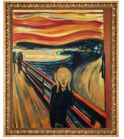 """By Overstockart The Scream with Versailles Frame, 23.5"""" x 27.5"""""""