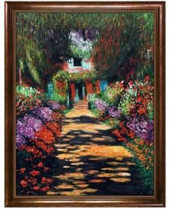 """By Overstockart Garden Path At Giverny with Verona Cafe Frame, 34"""" x 44"""""""