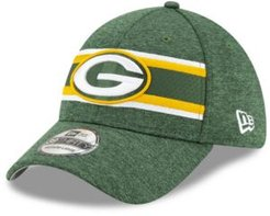Green Bay Packers Striped Front Tech 39THIRTY Stretch Fitted Cap