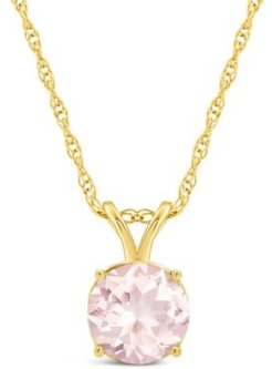 Morganite (1-1/4 ct. t.w.) Pendant Necklace in 14K Yellow Gold