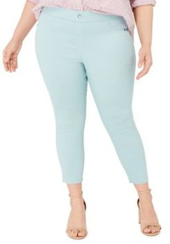 Plus Size Classic Smooth Denim Capris