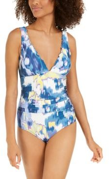 Printed Ruffled One-Piece Swimsuit Women's Swimsuit