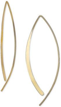 Polished Threader Earrings in 18k Gold-Plated Sterling Silver, Created for Macy's