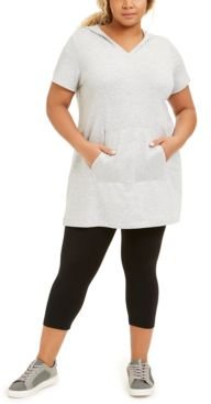 Plus Size Hooded V-Neck Tunic Top, Created for Macy's