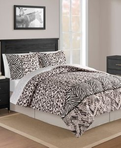 Safari Blush 8-Pc. Full Comforter Set Bedding