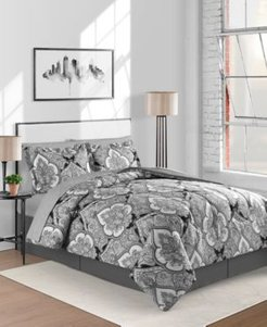 Gotham Reversible 8-Pc. Twin/Twin Xl Comforter Set Bedding