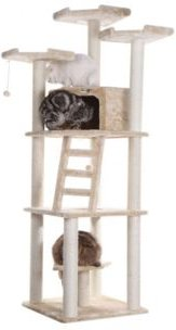 Multi-Function Cat Tower with Spacious Condo, Perches