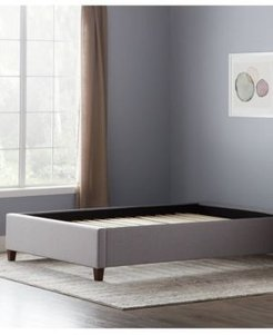 by Lucid Upholstered Platform Bed with Slats, Queen