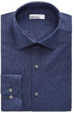Organic Cotton Floral Jacquard Slim Fit Dress Shirt, Created for Macy's