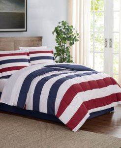 Modern Stripe 8-Pc. Queen Comforter Set, Created for Macy's Bedding