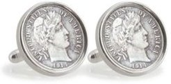 Silver Barber Dime Sterling Silver Coin Cuff Links