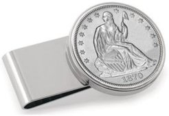Silver Seated Liberty Half Dollar Stainless Steel Coin Money Clip