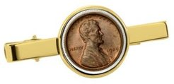 1909 First-Year-Of-Issue Lincoln Penny Coin Tie Clip
