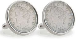 University of Oklahoma 1890 Sterling Silver Nickel Coin Cuff Links