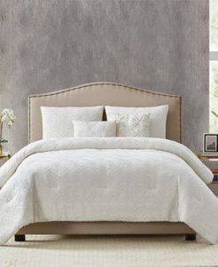 Diamond Clipped Jacquard Full/Queen Comforter Set Bedding