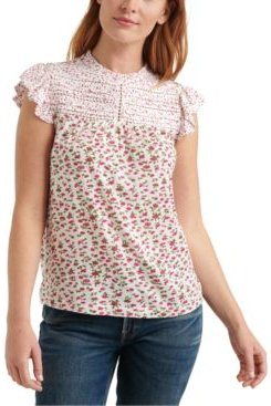 Floral Printed High-Neck Top