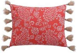"""Cape Road 14"""" x 18"""" Paisley Decorative Pillow with Tassels"""