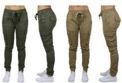 Cotton Stretch Twill Cargo Joggers, Pack of 2