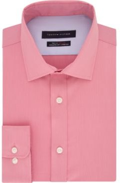 Fitted THFlex Performance Stretch Solid Dress Shirt, Created for Macy's