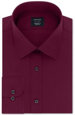 Classic/Regular-Fit Non-Iron Performance Stretch Solid Dress Shirt