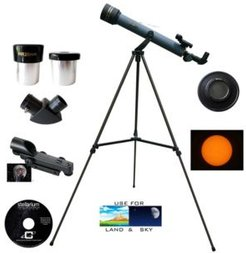 600mm x 50mm Day and Night Refractor Telescope Kit with Solar Filter Cap