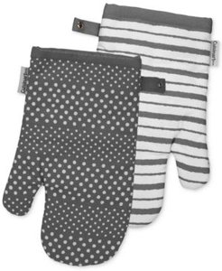 Reversible Print Oven Mitts, Set of 2